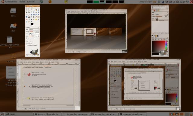 Compiz scaling windows